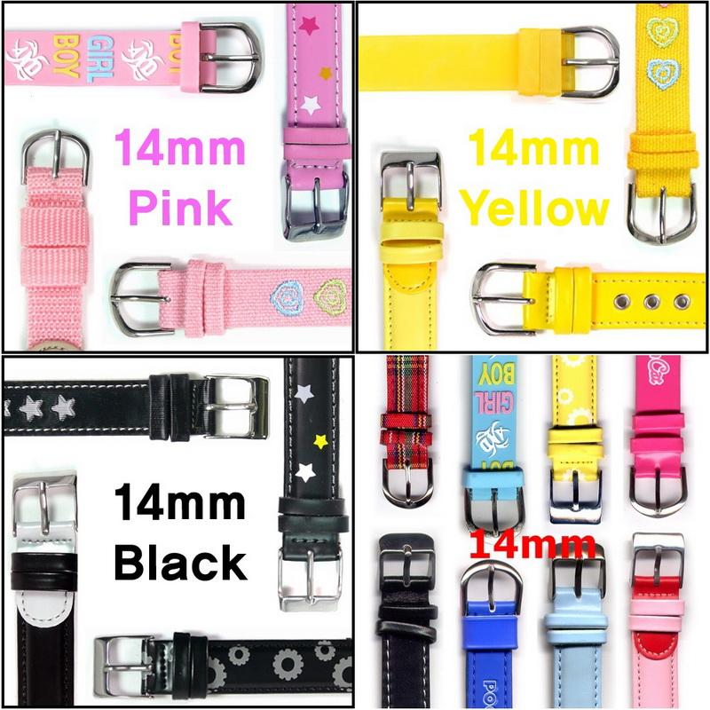 KLPK15014시계가죽PU밴드아동여성용버클시계줄14mm