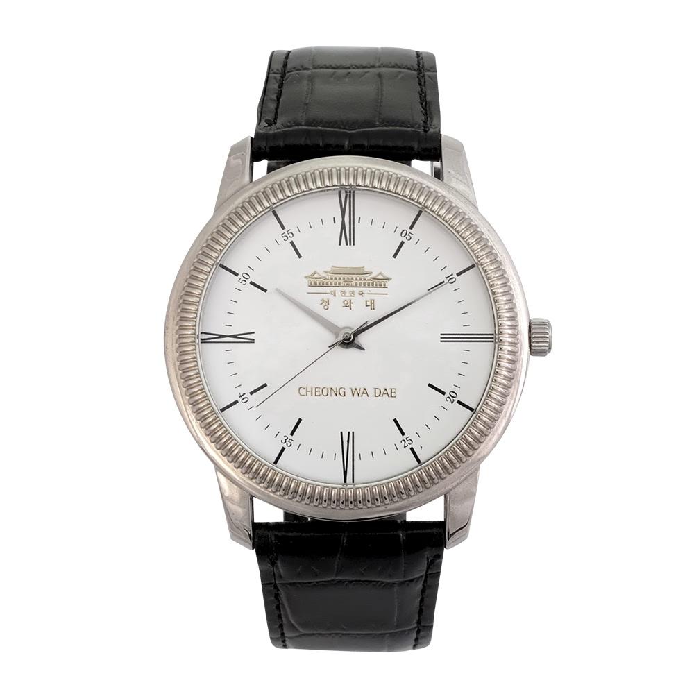 KLPK10017H (100개가격)화이트손목시계 OEM시계 판촉물 홍보 시계제작 기념품 답례품