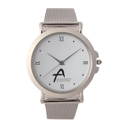KLPK10501H (100개가격)메쉬밴드 메탈 손목시계 OEM시계 판촉물 홍보 시계제작 기념품 답례품