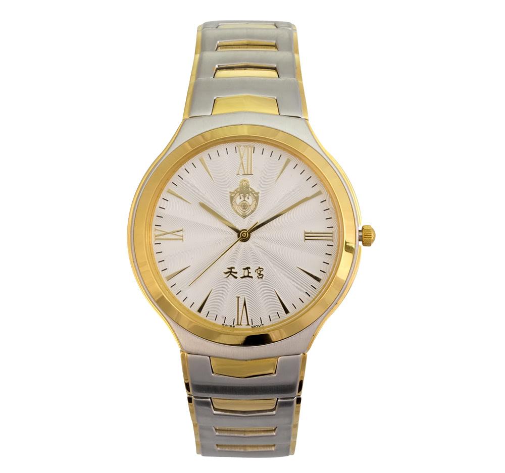 KLPK10503H (100개가격)투톤 실버컬러 메탈 손목시계 OEM시계 판촉물 홍보 시계제작 기념품 답례품
