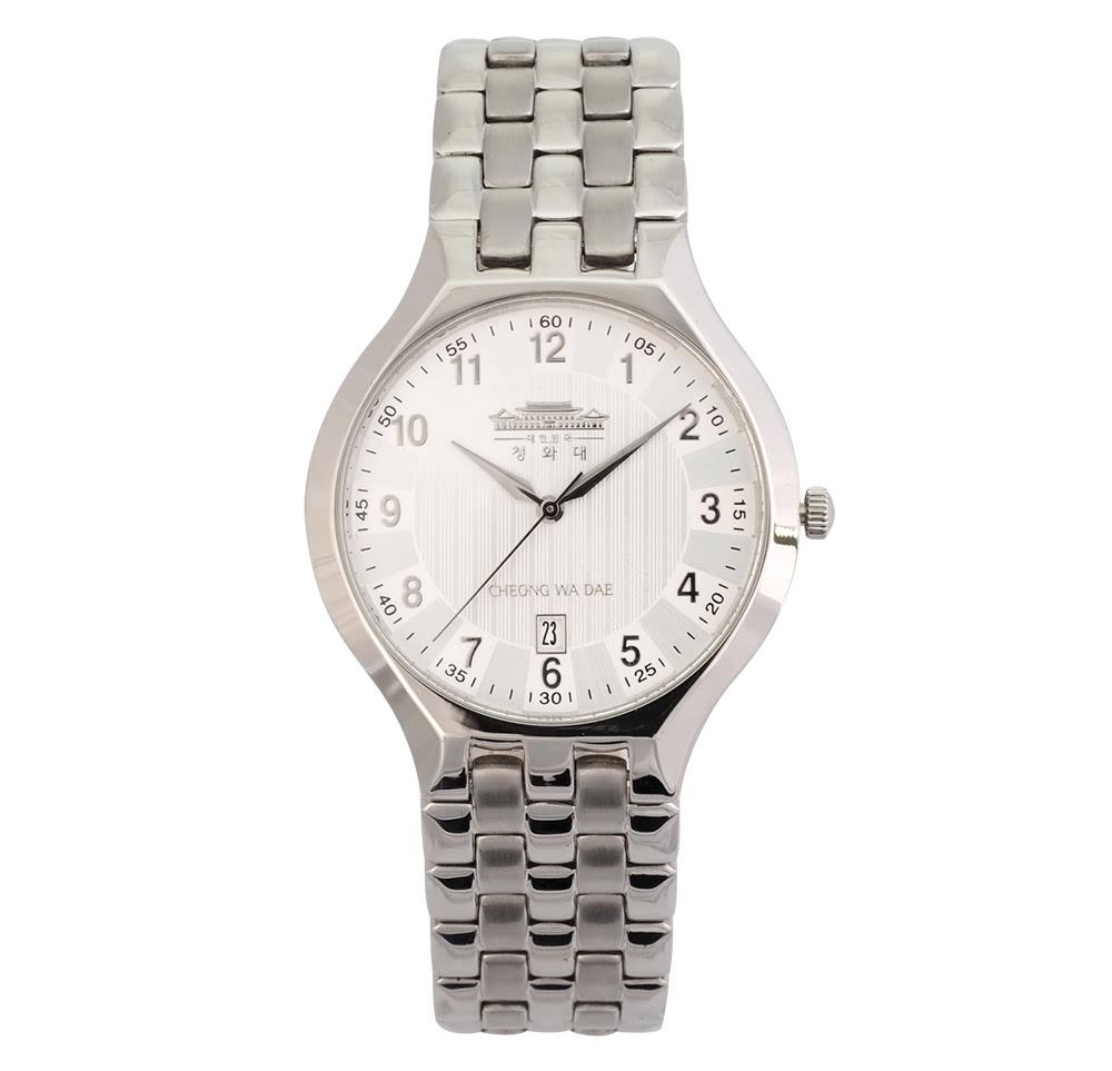 KLPK10504H (100개가격)투톤 골드컬러 메탈 손목시계 OEM시계 판촉물 홍보 시계제작 기념품 답례품