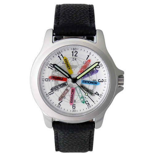KLPK10703H (100개가격)트레블월드 타임 손목 시계 OEM시계 판촉물 홍보 시계제작 기념품 답례품