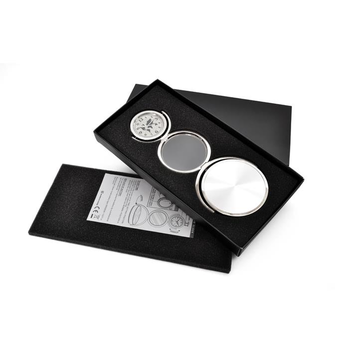 KLPK12044 인테리어 탁상시계  3단 원형 고급 포토 탁상 시계