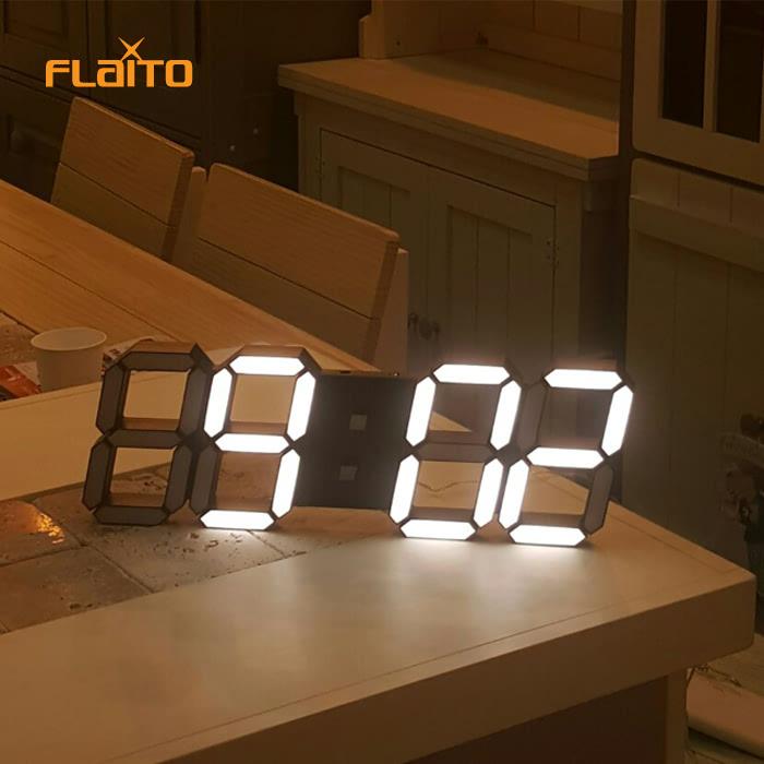 KLPK14022 플라이토 3D LED 벽시계 38cm 사무실 벽시계 OEM 판촉물 홍보 시계제작 기념품