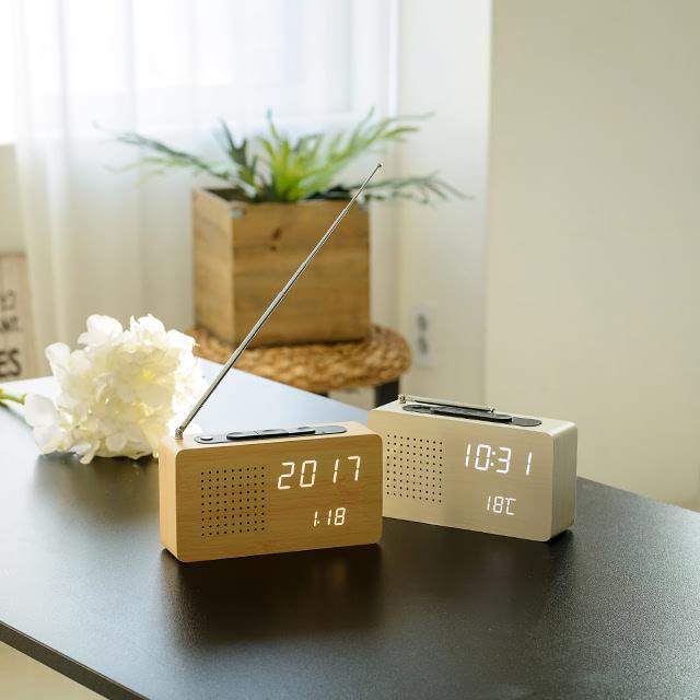 KLPK14027 루나리스 LED 라디오시계 사무실 벽시계 OEM 판촉물 홍보 시계제작 기념품