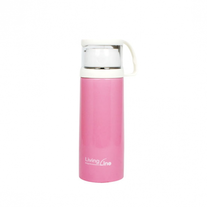 KLPK21113(100개 단가) 컵보온병(소)-핑크 [400ml] 머그컵 텀블러 판촉 전용 상품 케이엘피코리아