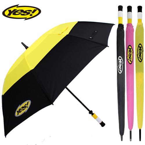 KLPK22019(100개 단가) 80수동이중방풍(검/노) 우산제작 우산도매 판촉물 케이엘피코리아