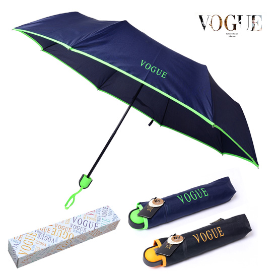 KLPK22205(100개 단가) 보그 3단 에멀솔리드 우산 우산제작 우산도매 판촉물 케이엘피코리아