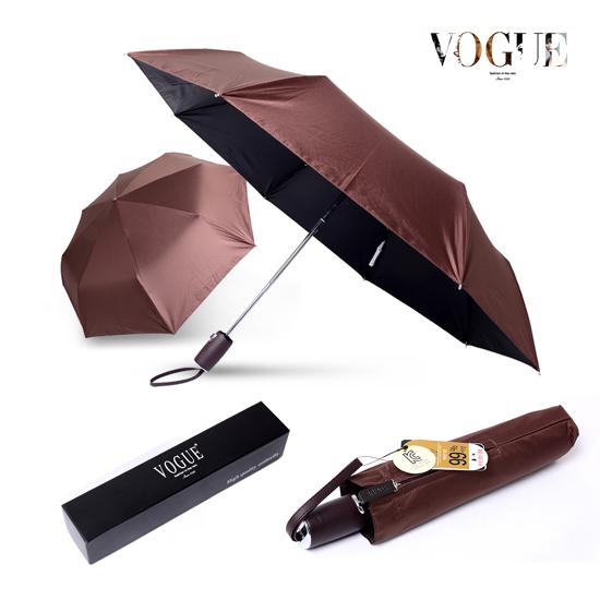 KLPK22211(100개 단가) 보그 3단 60 프리미엄 완전자동 우양산 (가죽핸들) 우산제작 우산도매 판촉물 케이엘피코리아