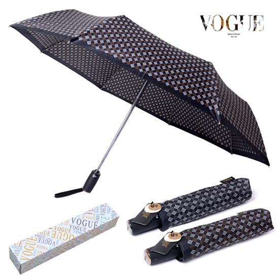 KLPK22213(100개 단가) 보그 3단 델타나염 완전자동 우산 우산제작 우산도매 판촉물 케이엘피코리아
