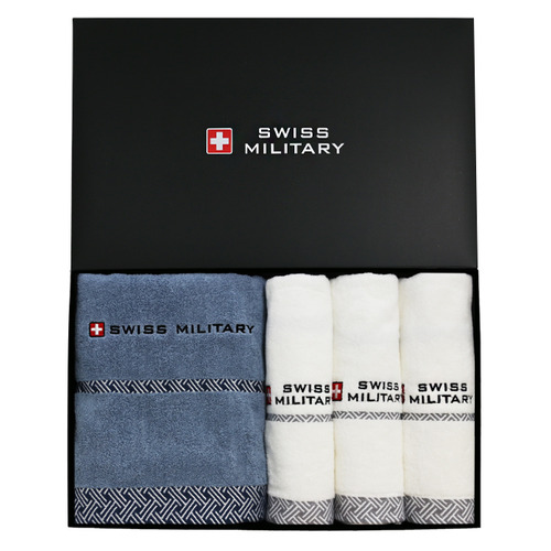 KLPK23014(100개 단가) 스위스밀리터리 바스타올1P +  160g타올 3P  호텔수건 도매 제작 판촉물 케이엘피코리아