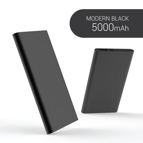 KLPK25008(100개 단가) 모던블랙 파워뱅크 보조배터리 [5000mAh]