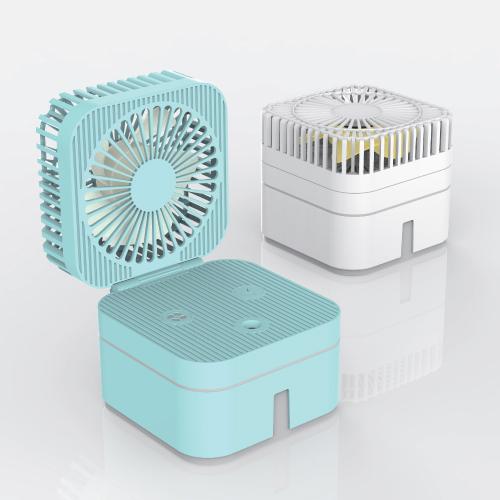KLPK28005 (100개 단가)매직 큐브 선풍기 + 가습기 [탁상용]