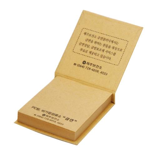 KLPK35003(1000개 단가) 크라프트 양장점착메모(소) 100매판촉물 케이엘피코리아