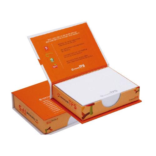 KLPK35019(1000개 단가) 측면 양장메모함(대) 200매판촉물 케이엘피코리아