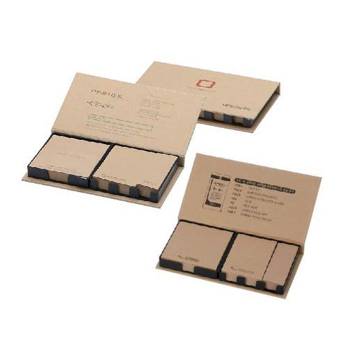 KLPK35040(1000개 단가) 크라프트 메모함(대) 100매 1도인쇄판촉물 케이엘피코리아