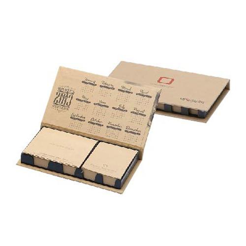 KLPK35042(1000개 단가) 크라프트 메모함(중) 1도인쇄판촉물 케이엘피코리아