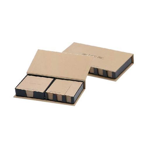 KLPK35043(1000개 단가) 크라프트 양장메모함(대) 200매 1도인쇄판촉물 케이엘피코리아