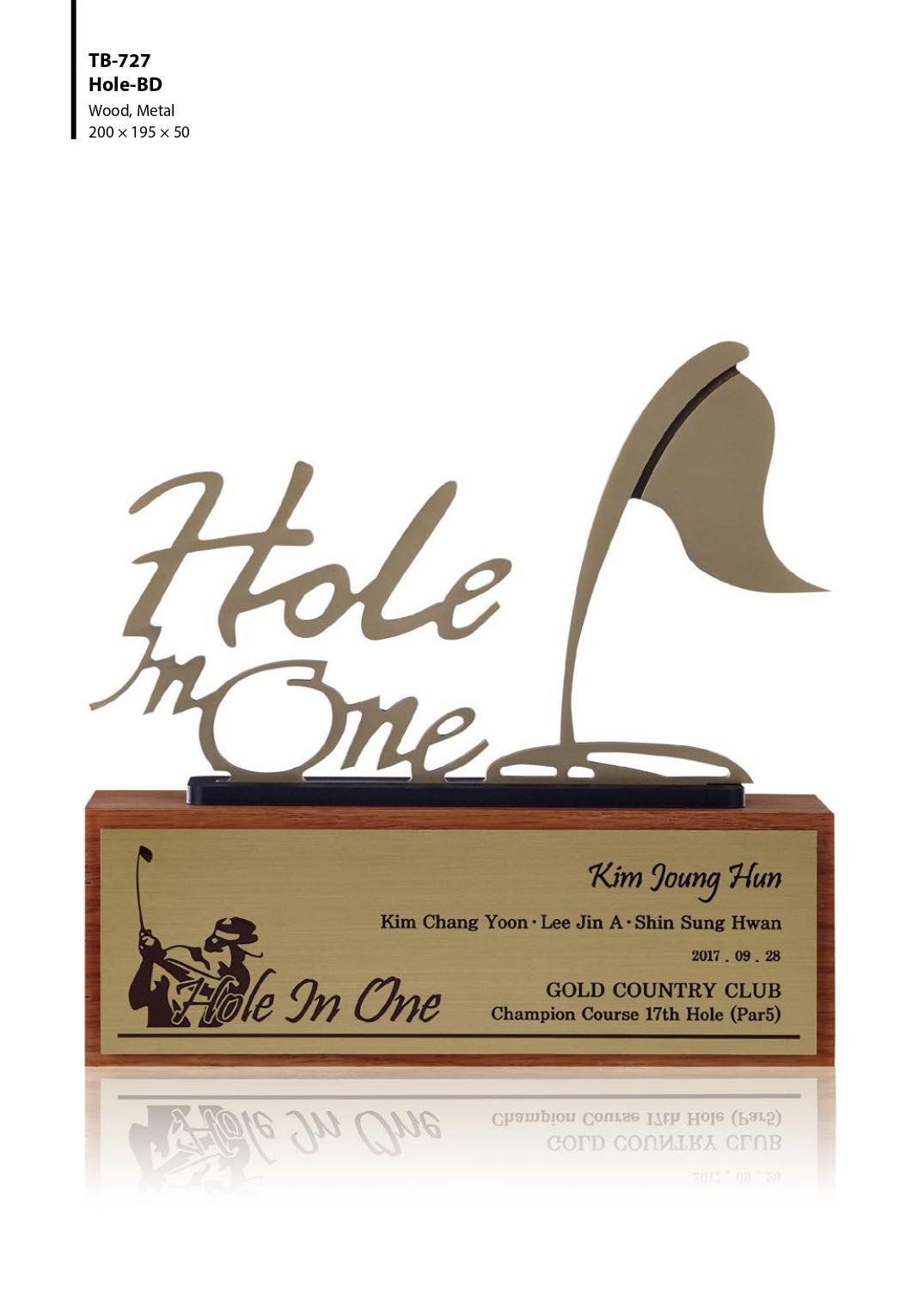 KLPK45027 Hole-BD 홀인원패 골프트로피 상패 트로피 판촉물 제작 케이엘피코리아
