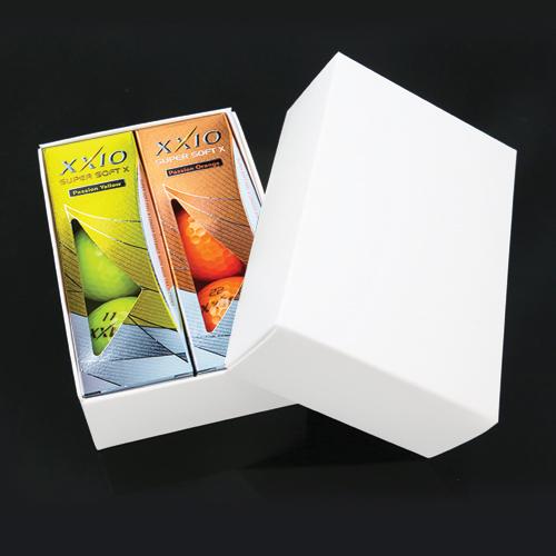 KLPK60017 (100개 단가)젝시오 SUPER SOFT X 칼라 골프공 6구세트(칼라인쇄+포장비별도)