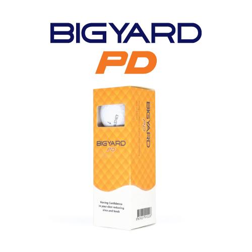 KLPK60034 (100개 단가)빅야드 PD(2PC) 골프공 3구세트(칼라인쇄+포장비별도)