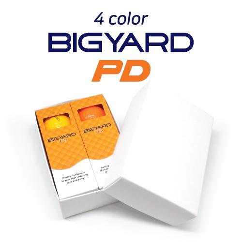 KLPK60038 (100개 단가)빅야드 PD(2PC) 칼라 골프공 6구세트(칼라인쇄+포장비별도)