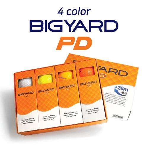 KLPK60039 (100개 단가)빅야드 PD(2PC) 칼라 골프공 12구세트(칼라인쇄+포장비별도)