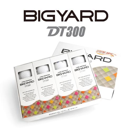 KLPK60042 (100개 단가)빅야드 DT300(3PC) 골프공 12구세트(칼라인쇄+포장비별도)