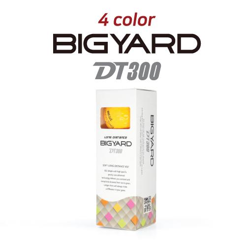 KLPK60043 (100개 단가)빅야드 DT300(3PC) 4칼라 골프공 3구세트(칼라인쇄+포장비별도)