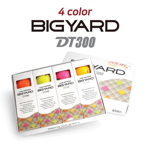 KLPK60045 (100개 단가)빅야드 DT300(3PC) 4칼라 골프공 12구세트(칼라인쇄+포장비별도)
